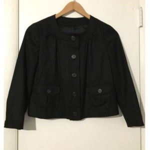 J. Crew Black 100% Wool Jacket Button Blazer Sz 2